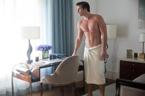 cách quấn khăn tắm cho nam