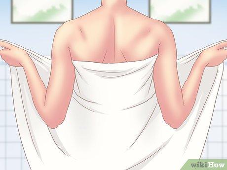 Cách quấn khăn tắm quanh cơ thể