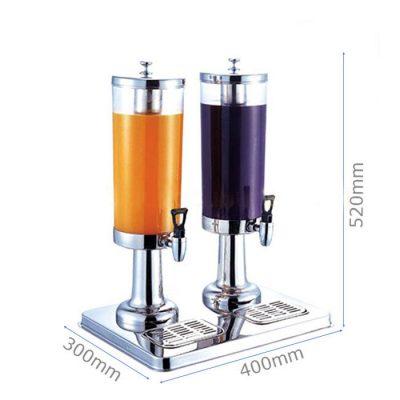 Kích thước Bình đựng nước hoa quả đôi 2 ngăn 6 lít inox 304 121315