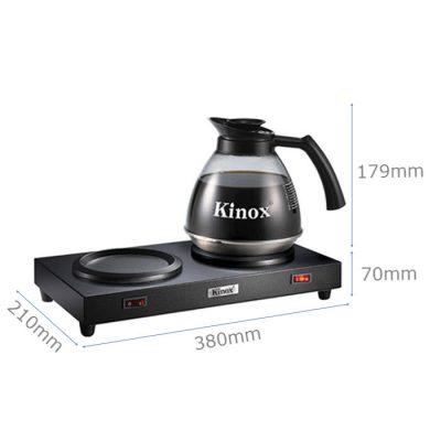 Kích thước bộ máy hâm bình đựng cà phê Kinox