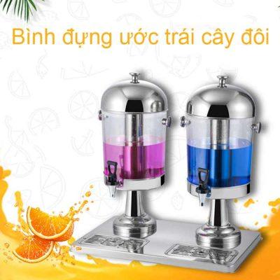 Bình đựng nước hoa quả 16 lít 2 ngăn cổ chân bằng inox BC2205-2