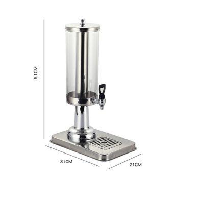 Kích thước Bình đựng nước hoa quả nóng lạnh 3 lít cổ chân nhựa mạ 1 ngăn BC2221-1