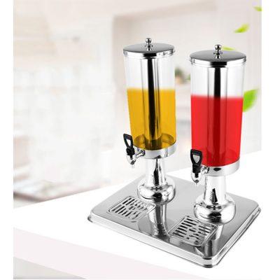 Bình đựng nước hoa quả buffet 6 lít cổ chân nhựa mạ 2 ngăn BC2221-2