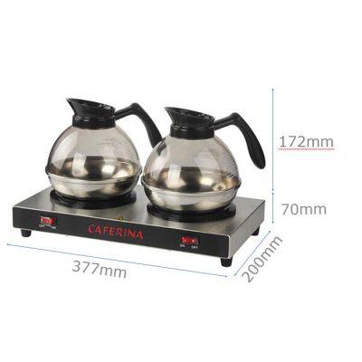 Kích thước Bộ bếp hâm Caferina và bình cà phê Kinox CF23-B2