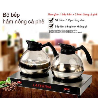 Mô tả Bộ bếp hâm Caferina và bình cà phê Kinox CF23-B2