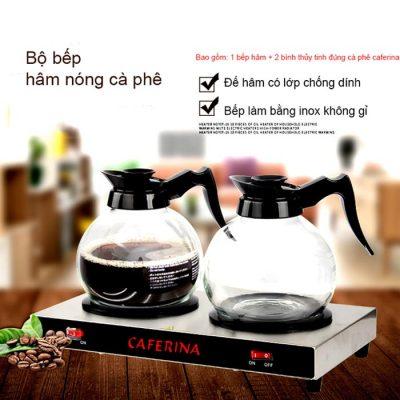 Mô tả Bộ bếp hâm và bình thủy tinh cà phê caferina CF23-B3