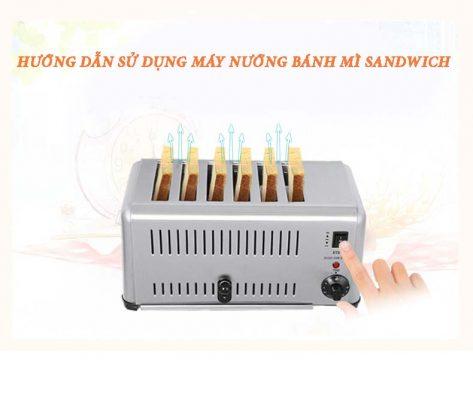 Bật con tắt để sử dụng máy nướng bánh mì chia ngăn