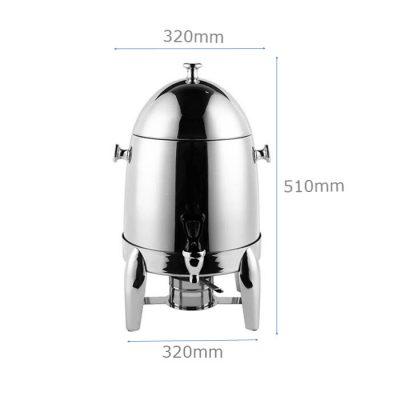 Kích thước Bình hâm trà cafe sữa inox 12 lít