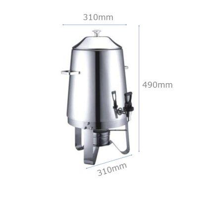 Kích thước bình hâm cafe trà inox dung tích 13 lít