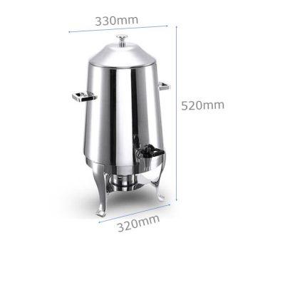 Kích thước Bình hâm nóng trà cafe dung tích 13 lít