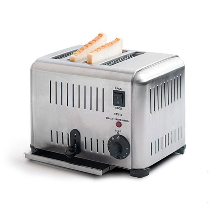 Lò nướng bánh mì sandwich inox 4 ngăn ETS-4 - MAYBE