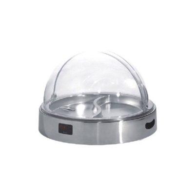 Mô tả Khay đựng thức ăn inox buffet tròn giữ lạnh nắp PC KB3310
