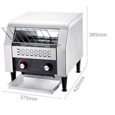 Kích thước Lò nướng bánh mì inox băng chuyền TT-300