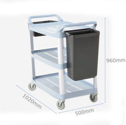 Kích thước Xe đẩy thu dọn bàn ăn 3 tầng đa năng