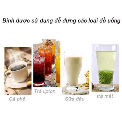Các loại đồ uống được dùng cho bình hâm cà phê