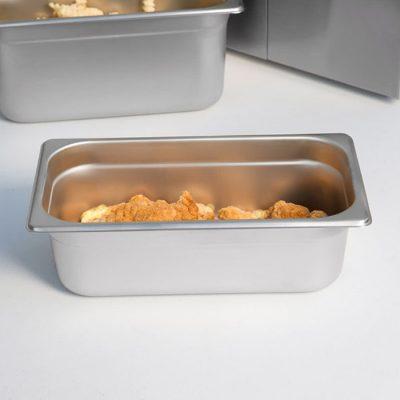 Khay 1/3 inox 304 chống kẹt dày 0.7 sâu 100 mm 713304-100