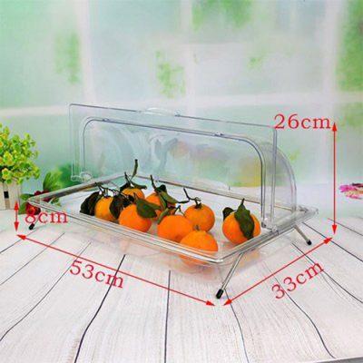 Kệ để khay đựng trưng bày thức ăn bằng nhựa có nắp PC KB2706-N165