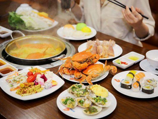Hình ảnh dự tiệc buffet tại nhà hàng