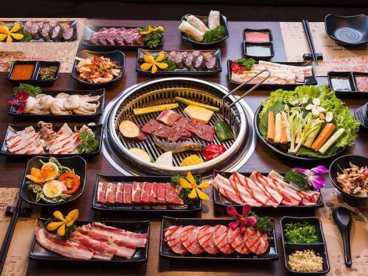 Hình Ảnh những món ăn trong tiệc buffet