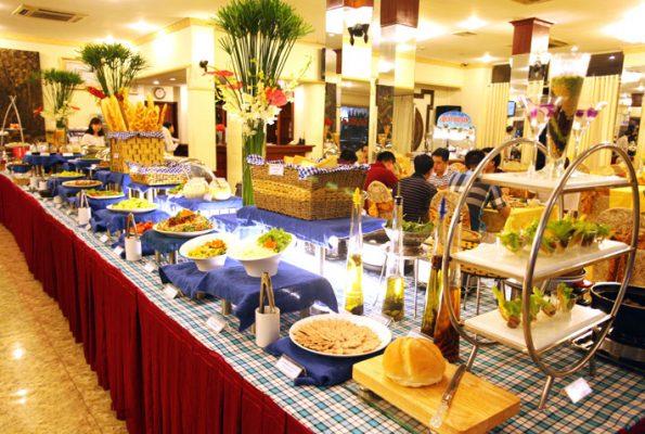 Hình ảnh bữa tiệc buffet lung linh