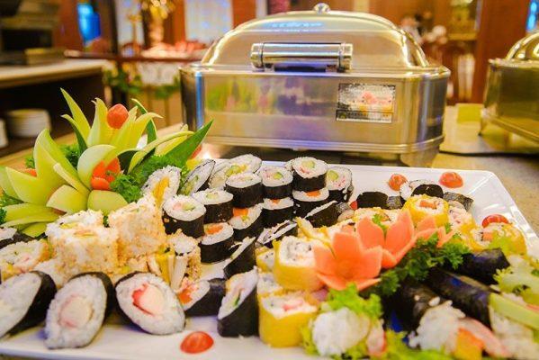 Hình ảnh buffet sushi hàn quốc