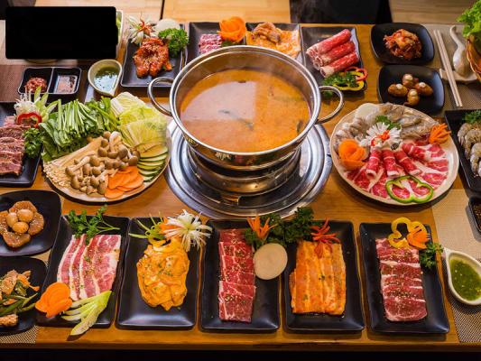 Hình ảnh buffet lẩu hàn
