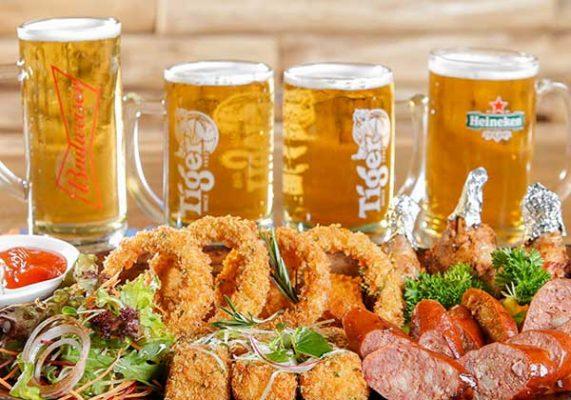 Hình ảnh buffet bia độc lạ