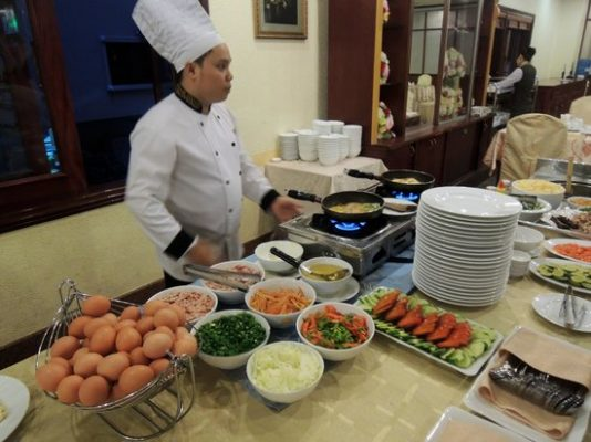 Thực đơn các món chính của tiệc buffet sáng