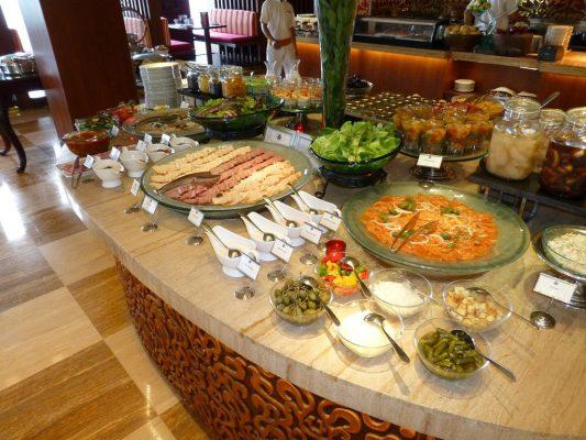 Thực đơn món ăn phụ của tiệc buffet sáng