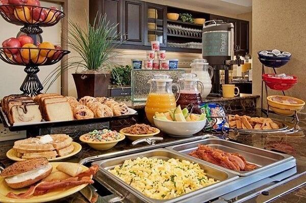 Thực đơn tiệc buffet sáng cho khách sạn 3 sao 4 sao 5 sao