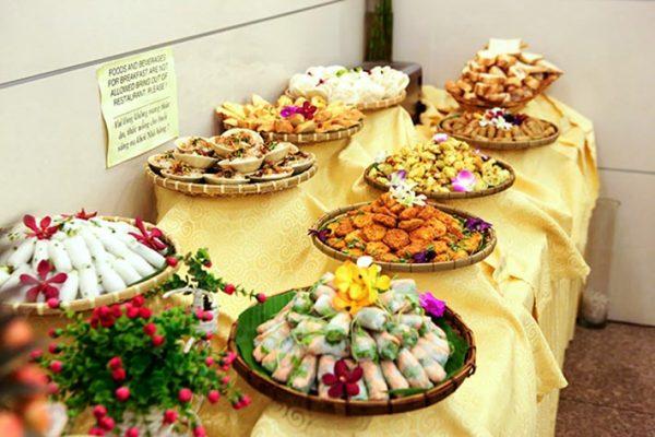 Thực đơn món ăn buffet cho nhà hàng khách sạn