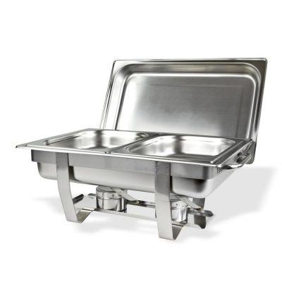 Nồi hâm nóng buffet giá rẻ chữ nhật nắp rời 2 ngăn AT771L63-2