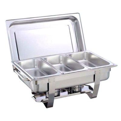 Nồi buffet giá rẻ chữ nhật nắp rời 3 ngăn AT771L63-3