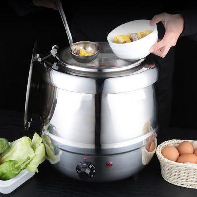 Nồi hâm soup buffet sử dụng điện inox 10 lít NS2217S