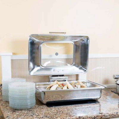 Nồi buffet chữ nhật đáy 2 lớp cho bếp từ S605593