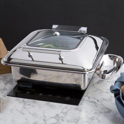 Nồi hâm buffet vuông đáy 2 lớp cho bếp từ S602293