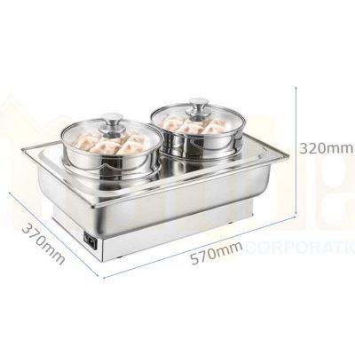 Kích thước Nồi hấp dimsum chữ nhật dùng điện 1 tầng ND0510