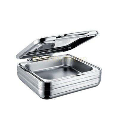 Nồi buffet vuông inox 304 nắp kính thủy lực dùng trên bếp từ NF2167