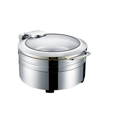 Nồi hâm buffet tròn inox 304 nắp kính thủy lực dùng điện NF2171
