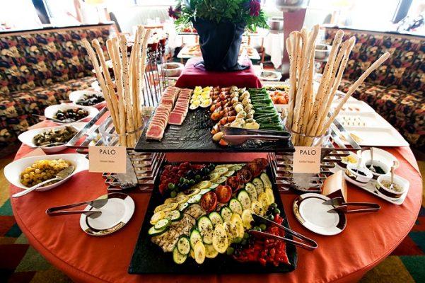 mẫu quầy buffet đẹp