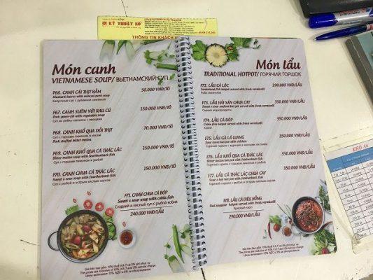 Một số lưu ý khi làm menu để bàn không cần thiết kế nhiều bằng Word