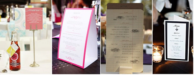 Kích thước menu để bàn các loại khác