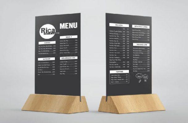 Khung menu bằng gỗ