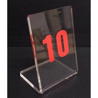 Thẻ để bàn mica hình chữ L