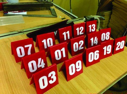 thẻ số bàn