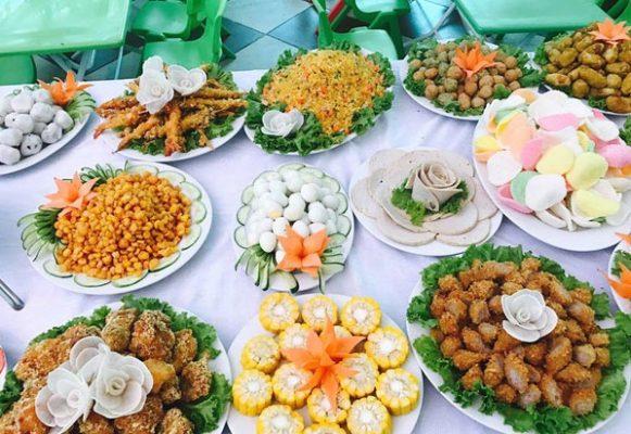 Thực đơn các món ăn mặn sinh nhật trẻ