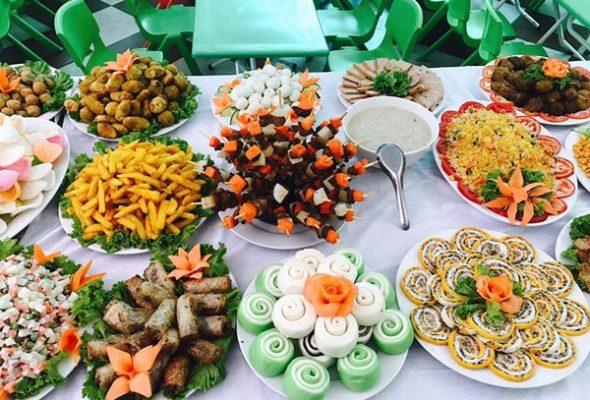 thực đơn buffet sinh nhật cho học sinh tiểu học